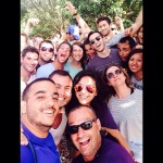 Group selfies on birthright israel trip