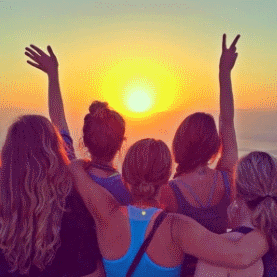 Sunset picture with friends