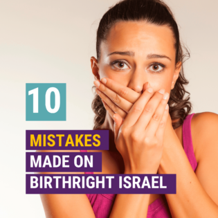 mistakes made on Birthright Israel