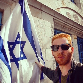 Guy with Israeli flag