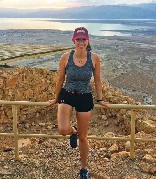 Emma at Sunset on Masada