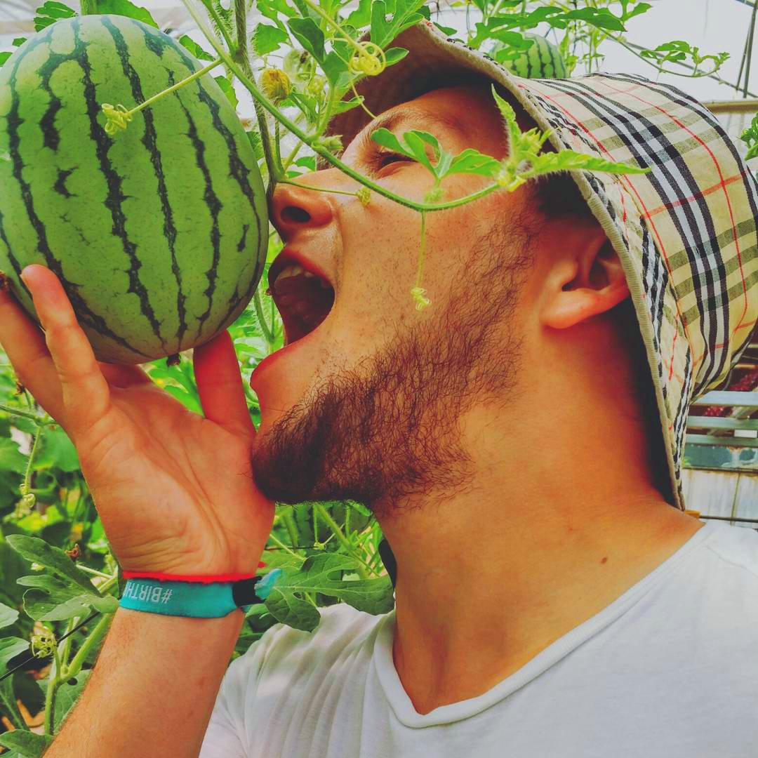 Guy Eating Watermelon